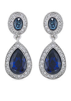 Carolee Bethany Crystal Drop Clip Earrings