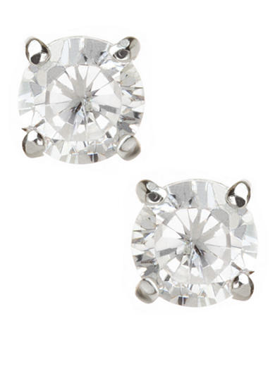 Carolee Sterling Silver Round Cubic Zirconia Stud Earrings