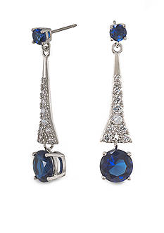 Carolee The Looking Glass Royal Blue Drop Pierced Earrings