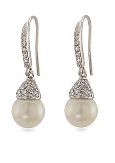 Carolee Pearl Drop Earrings