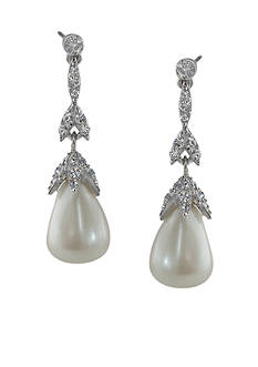 Carolee Linear Teardrop Earrings
