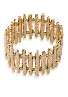 Carolee Gold-Tone ABS Vibrant Vibes Bar Stretch Bracelet