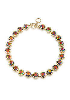 Carolee Gold-Tone ABS Vibrant Vibes Stone Collar Necklace
