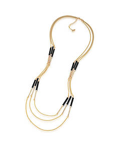 Carolee Gold-Tone Bar Illusion Layered Necklace