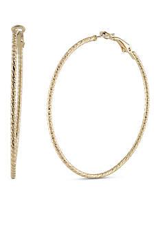 Carolee Gold-Tone ABS Vibrant Vibes Hoop Pierced Earrings