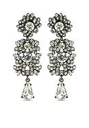 Carolee Hematite-Tone ABS Set in Stone and Clear