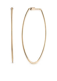 Carolee Gold-Tone Hoop Dreams Oval Earrings