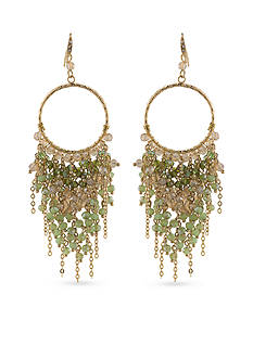 Carolee Gold-Tone ABS Vibrant Vibes Beaded Chandelier Pierced Earrings