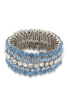 Carolee Silver-Tone Something Blue Stretch Bracelet