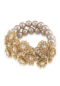 Carolee Union Square Wide Stretch Bracelet