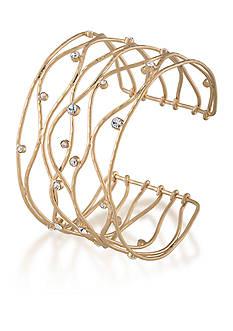 Carolee Gold-Tone Riverside Park Cuff Bracelet