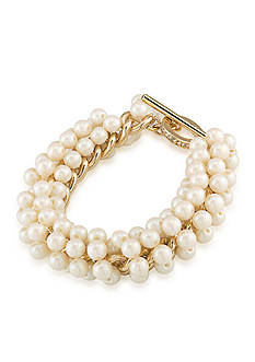 Carolee Union Square White Pearl Bracelet
