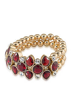 Carolee Gold-Tone Big Apple Stretch Bracelet