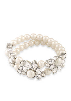 Carolee Silver-Tone Waldorf Stretch Bracelet