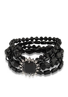 Carolee Gotham Hematite Multi Row Bracelet