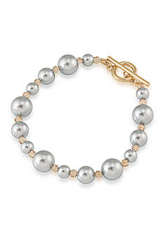 Carolee Gold-Tone West Side Pearl Bracelet