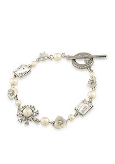 Carolee Silver-Tone 21 Club Flex Bracelet