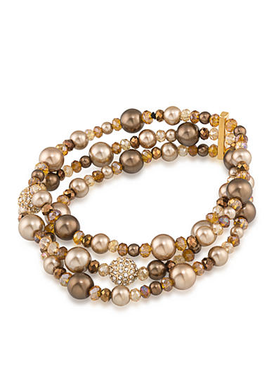 Carolee Gold-Tone Metropolitan Club Stretch Bracelet
