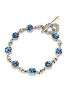 Carolee Something Blue Single Row Flex Bracelet