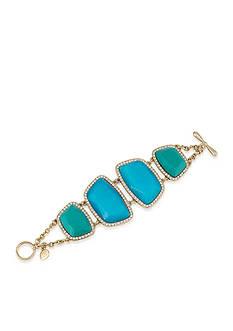 Carolee Gold-Tone LUX Collection Barcelona Baubles Flex Bracelet