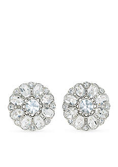 Carolee Broadway Lights Button Clip On Earrings