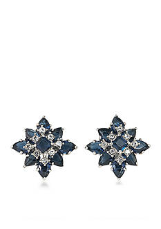 Carolee Silver-Tone New York Star Clip On Earrings