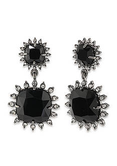 Carolee Silver-Tone Gotham Double Drop Earrings
