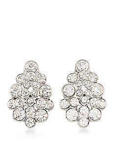 Carolee Silver-Tone East Side Clip-On Earrings