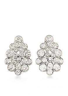 Carolee Silver-Tone East Side Clip On Earrings