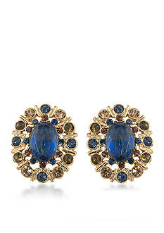 Carolee Gold-Tone Nine to Five Clip On Earrings