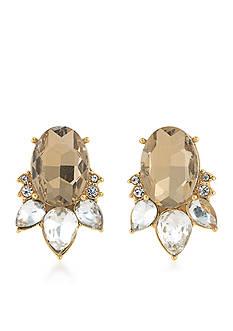 Carolee Gold-Tone Metropolitan Club Stud Earrings