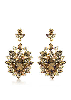 Carolee Gold-Tone Metropolitan Club Chandelier Earrings