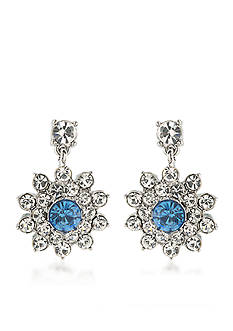 Carolee Something Blue Cluster Clip On Earrings