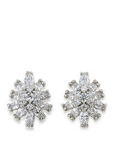 Carolee Silver-Tone Something Borrowed Clip On Earrings