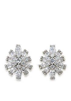 Carolee Silver-Tone Something Borrowed Clip On Earrings
