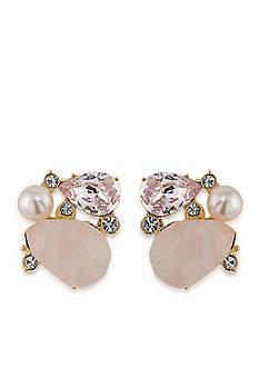 Carolee Gold-Tone Garden Party Clip On Earrings