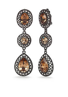 Carolee Gold-Tone What a Girl Wants Linear Earrings