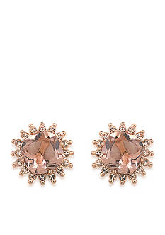 Carolee Rose Gold-Tone Clipped to Perfection Button Clip Earrings