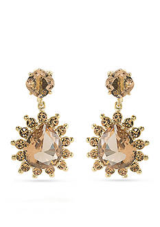 Carolee Gold-Tone Clipped to Perfection Drop Clip Earrings