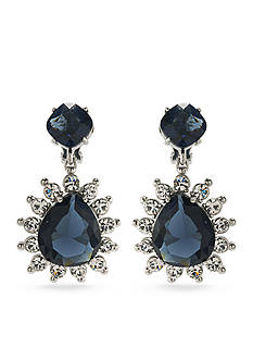 Carolee Silver-Tone Clipped to Perfection Drop Clip Earrings