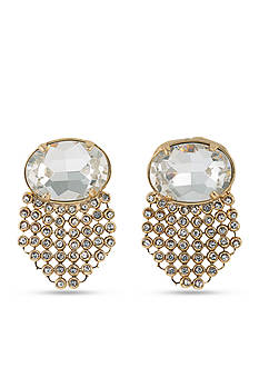 Carolee Gold-Tone Clipped to Perfection Cascade Clip Earrings