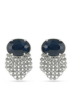 Carolee Silver-Tone Clipped to Perfection Cascade Clip Earrings