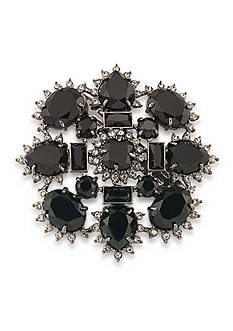 Carolee Hematite-Tone Gotham Cluster Hair Clip