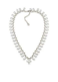 Carolee Silver-Tone Marquee Collar Necklace