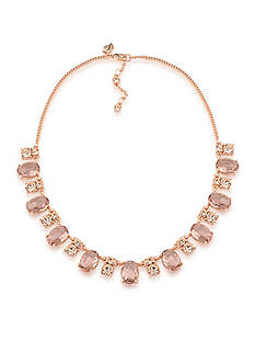 Carolee Rose Gold-Tone Pocket Park Collar Necklace