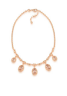 Carolee Rose-Gold Pocket Park Statement Necklace