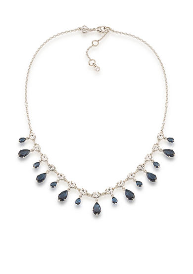 Carolee Silver-Tone New York Star Drop Necklace