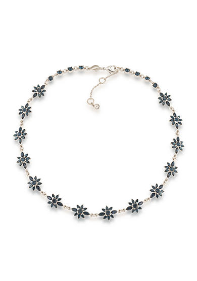 Carolee Silver-Tone New York Star Crystal Collar Necklace