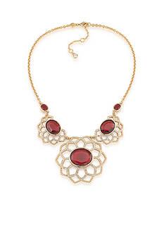 Carolee Goldtone Big Apple Statement Frontal Necklace