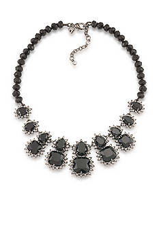 Carolee Gotham Hematite Statement Frontal Necklace